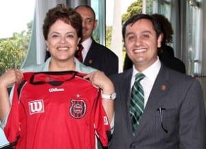 Presidente Dilma recebe camisa Grêmio Esportivo Brasil